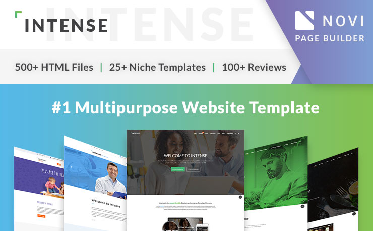 <strong>Intense</strong> — Top-notch Multipurpose HTML5 Website Template